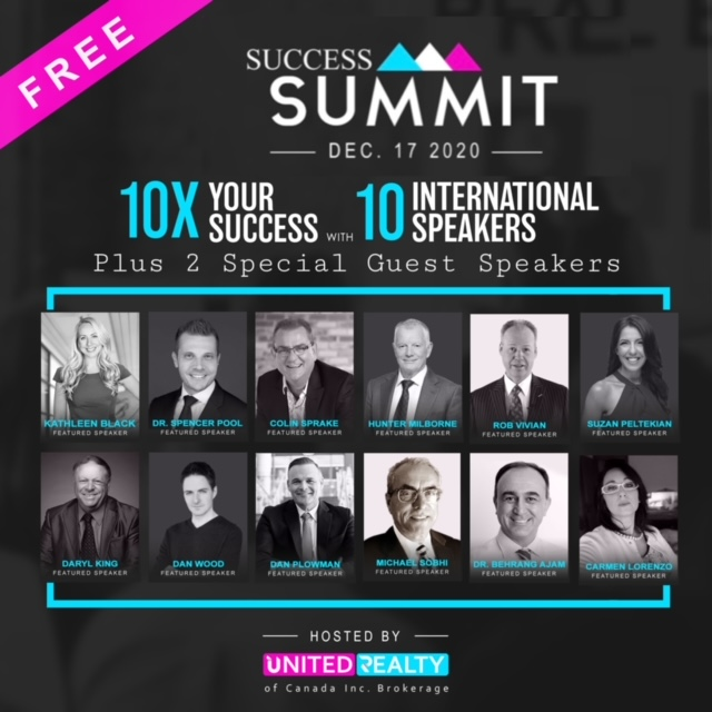 10x Success Summit Toronto - Sponsored By United Realty of Canada Uroc365.com